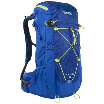 ae2a81f8b8ab Blackfell II 35 Litre Backpack with Hydration Storage Pocket Oxford Blue  Lime Zest