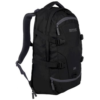 EU150_06N: Paladen 35L Laptop Backpack Black Ebony