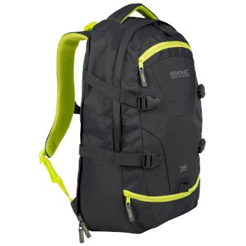 Paladen 35L Laptop Backpack Ebony Neon Spring