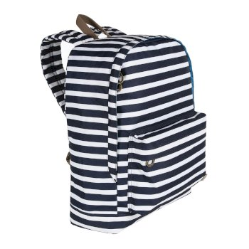 Print 20 Litre Easy Grab Zip Puller Daypack Navy Stripe