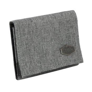 Burford Tri-Fold Hardwearing Wallet Nautical Grey