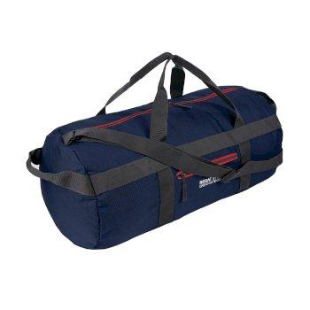 Granatowa składana torba Packaway Duff 60 L