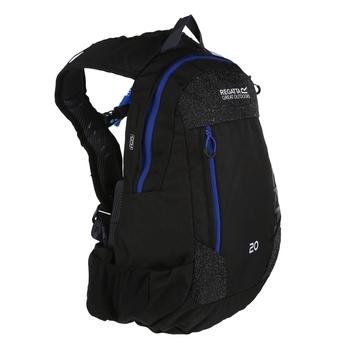 20 litrowy czarny plecak turystyczny Blackfell