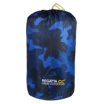 Maui Kids Polyester Lined Sleeping Bag Oxford Blue Palm Tree Print