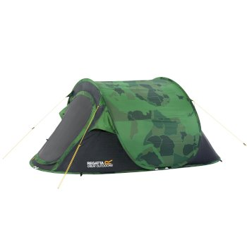 Malawi 2-Man Pop Up Festival Tent Camo Print Green-Grey