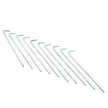 10 Pack 8 Inch Roundwire Steel Pegs Grey