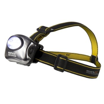 5 LED Head Torch Black Seal Grey