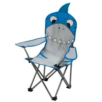 Kids Animal Lightweight Folding Camping Chair Shark Blue