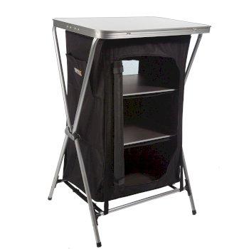 Varela Aluminium Framed Camping Storage Unit Black Seal Grey