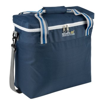 Freska 15 Litre Cool Bag with Shoulder Strap Dark Denim Light Steel
