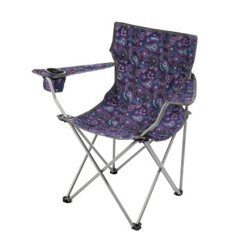Isla Lightweight Folding Camping Festival Chair Paisley Print
