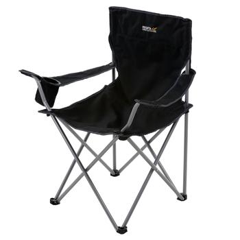 Isla Lightweight Folding Camping Chair Black Seal Grey