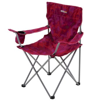 Isla Lightweight Folding Camping Chair Pink Tropical