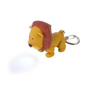 Animal Torch Keyring Lion Tan