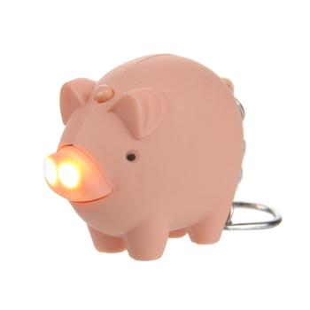 keyring Animal Torch Pig Pink