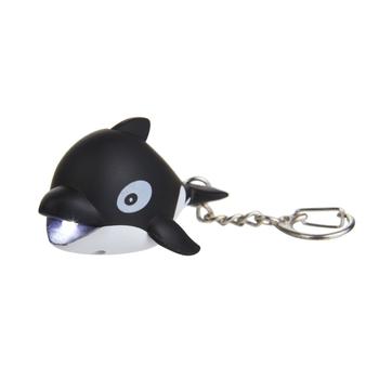 keyring Animal Torch Whale Black