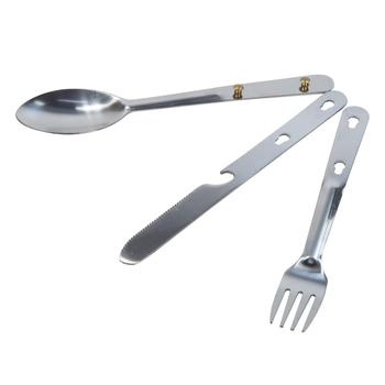 Steel Camping Cutlery Set Silver