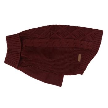 Knitted Dog Jumper Claret