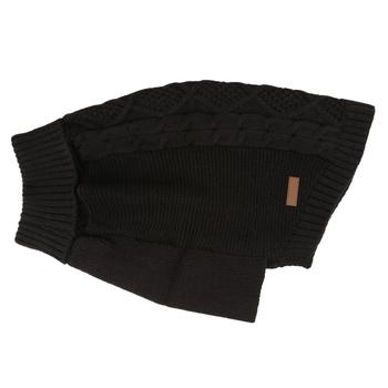 Knitted Dog Jumper Black