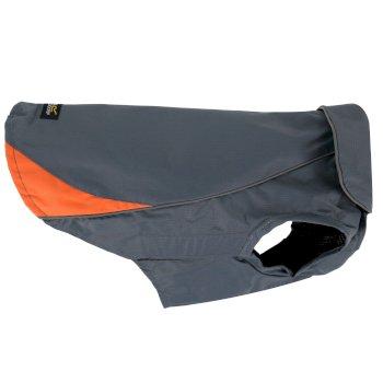 Reflective Lightweight Rainguard Dog Coat Seal Grey Orange