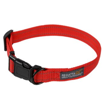 Comfort Hardwearing Dog Collar 45-70cm Red