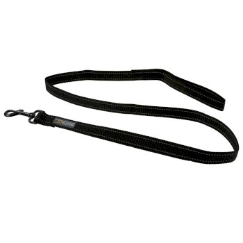 Reflective Hardwearing Dog Lead 120cm Black