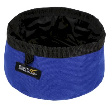 Pack Away Waterproof Dog Bowl Blue