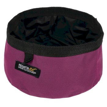 Pack Away Waterproof Dog Bowl Azalea
