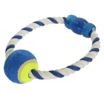 Tennis Ball Rope Black