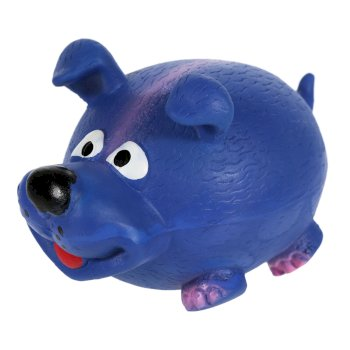 Latex Squeaker Blue Dog