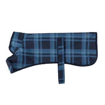 Arlo Waterproof Dog Coat Navy Check