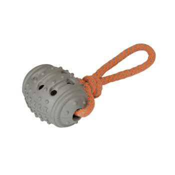 Rope Chew Dog Toy Orange Grey