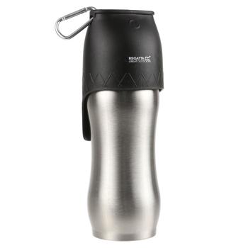 Dog Metal Travel Bottle 0.6L Silver