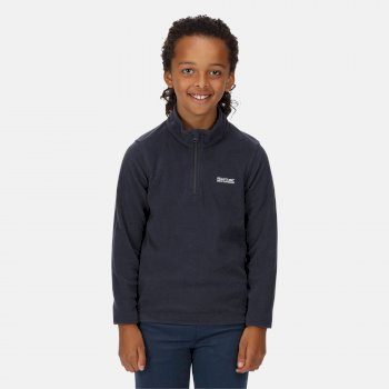 Kids' Hot Shot II Lightweight Half Zip Fleece Navy