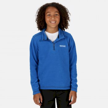 Kids' Hot Shot II Lightweight Half Zip Fleece Oxford Blue Navy