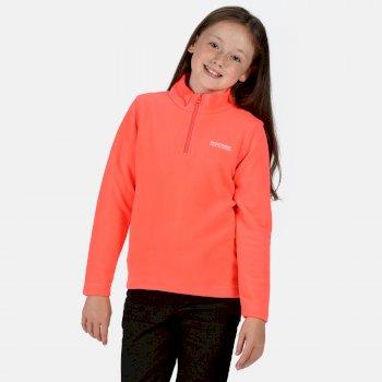 Kids' Hot Shot II Lightweight Half Zip Fleece Fiery Coral