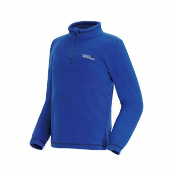 Hot Shot II Half Zip Lightweight Fleece Oxford Blue Black