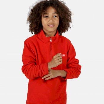 Kids' Hot Shot II Lightweight Half Zip Fleece Fiery Red