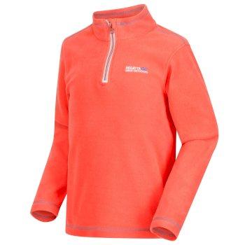 Hot Shot II Half Zip Lightweight Fleece Neon Peach