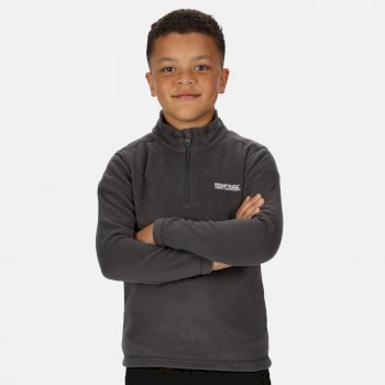 Kids' Hot Shot II Lightweight Half Zip Fleece Magnet Grey