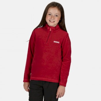 Kids' Hot Shot II Lightweight Half Zip Fleece Dark Cerise