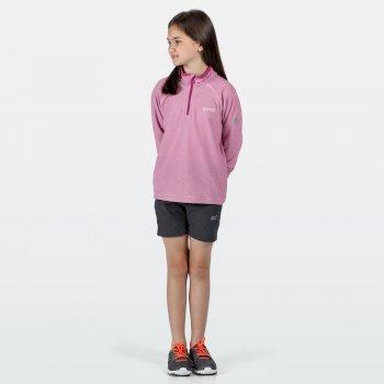 Kids' Loco Half Zip Mini Stripe Fleece Vivid Viola White