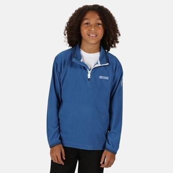Kids' Loco Half Zip Mini Stripe Fleece Nautical Blue