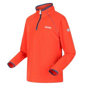 Kids' Loco Half Zip Fleece Amber Glow Magma