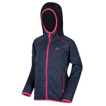 Kids' Dissolver II Hooded Fleece Navy Hot Pink