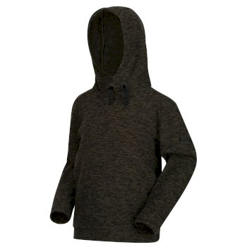 Kids' Keyon Hooded Fleece Dark Khaki Black