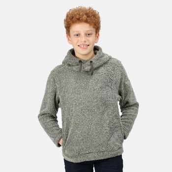 Kids' Keyon Hooded Fleece Dark Khaki Borg