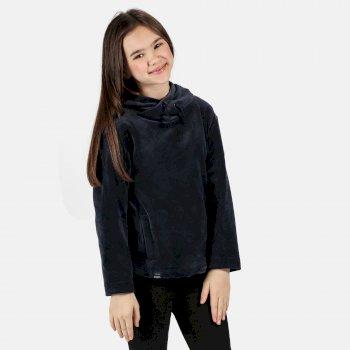 Kids' Kacie Hooded Fleece Navy Velour