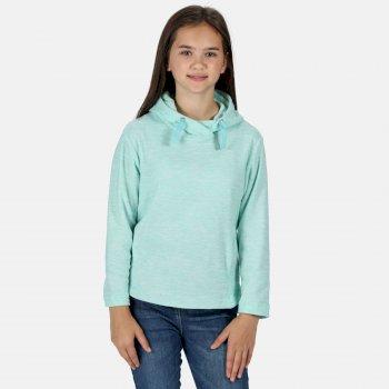 Kids' Kalina Funnel Neck Lightweight Hooded Fleece Aruba Blue