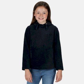 Kids' Kalina Funnel Neck Lightweight Hooded Fleece Navy Texture